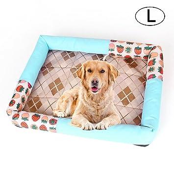 FOONEE Alfombrilla de Refrigeración para Mascotas Cama de Perro o Gato Acolchada con Cojín de Refrigeración para casetas: Amazon.es: Hogar