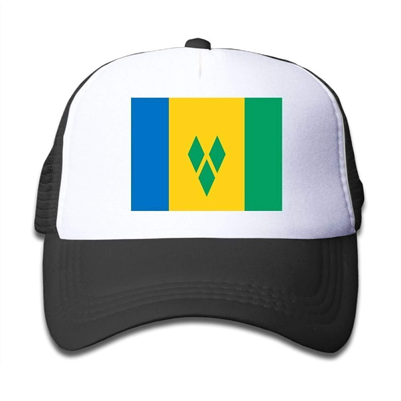 Flag of Saint Vincent and The Grenadines Boy & Girl Adjustable Baseball Caps Mesh Hat Haipaul