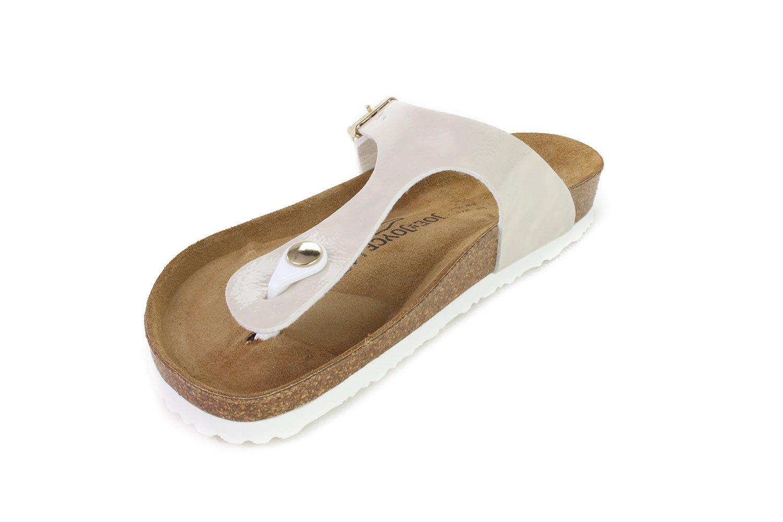 JOE N JOYCE Women Rio Soft-Footbed Metallic SynSoft Sandals Slippers B07868Z7K5 36 M EU|Beige Softbedded