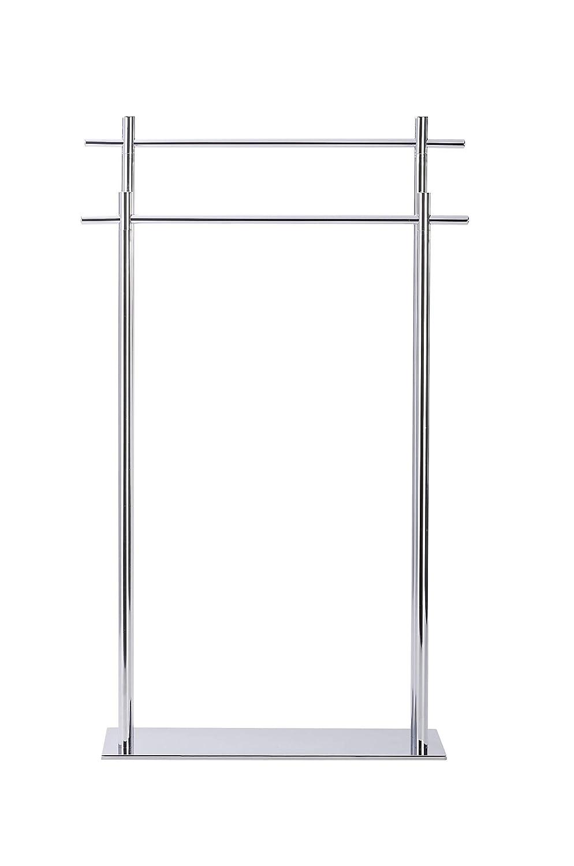 Edelstahl Wenko Handtuchhalter stehend mit 2 Handtuchstangen 51 x 84 x 19,5 cm silber Kyoto Handtuchst/änder 2 armig f/ür Bad K/üche G/ästeWC
