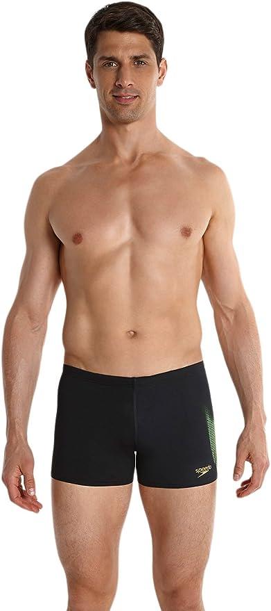 Black Speedo Mens LZR Placement Aqua Swim Swimming Pool Boxer Trunk Shorts