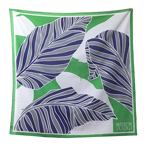Furoshiki by Musubism, 36' Large, 100% Cotton, Washable Japanese Hand-Paint Method, Gift-Wrapping Cloth, Tapestry, Tablecloth, Eco-Wrapping, Handbag, Unique and Stylish All in One!!(Green) by Musubism