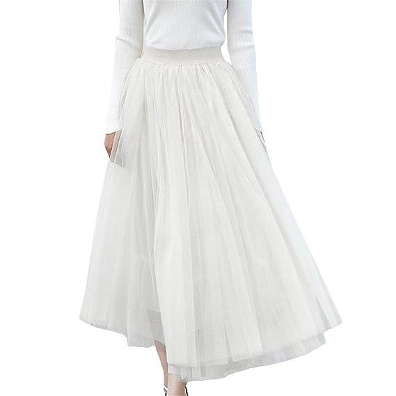 MIOIM® Coreano Falda Larga De Gasa de Danza Flamenco Faldas De ...
