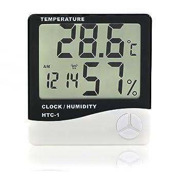 Digital Lcd Temperatur Und Feuchtigkeit Meter Uhr Alarm Kalender