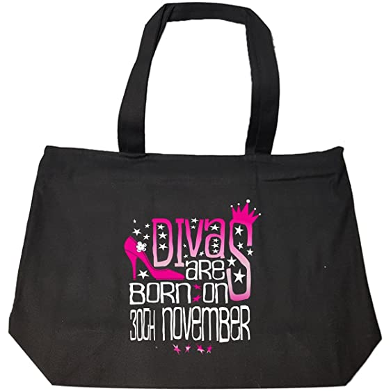 Amazon funny birthday gift divas are born on 30th november funny birthday gift divas are born on 30th november tote bag with zip negle Choice Image