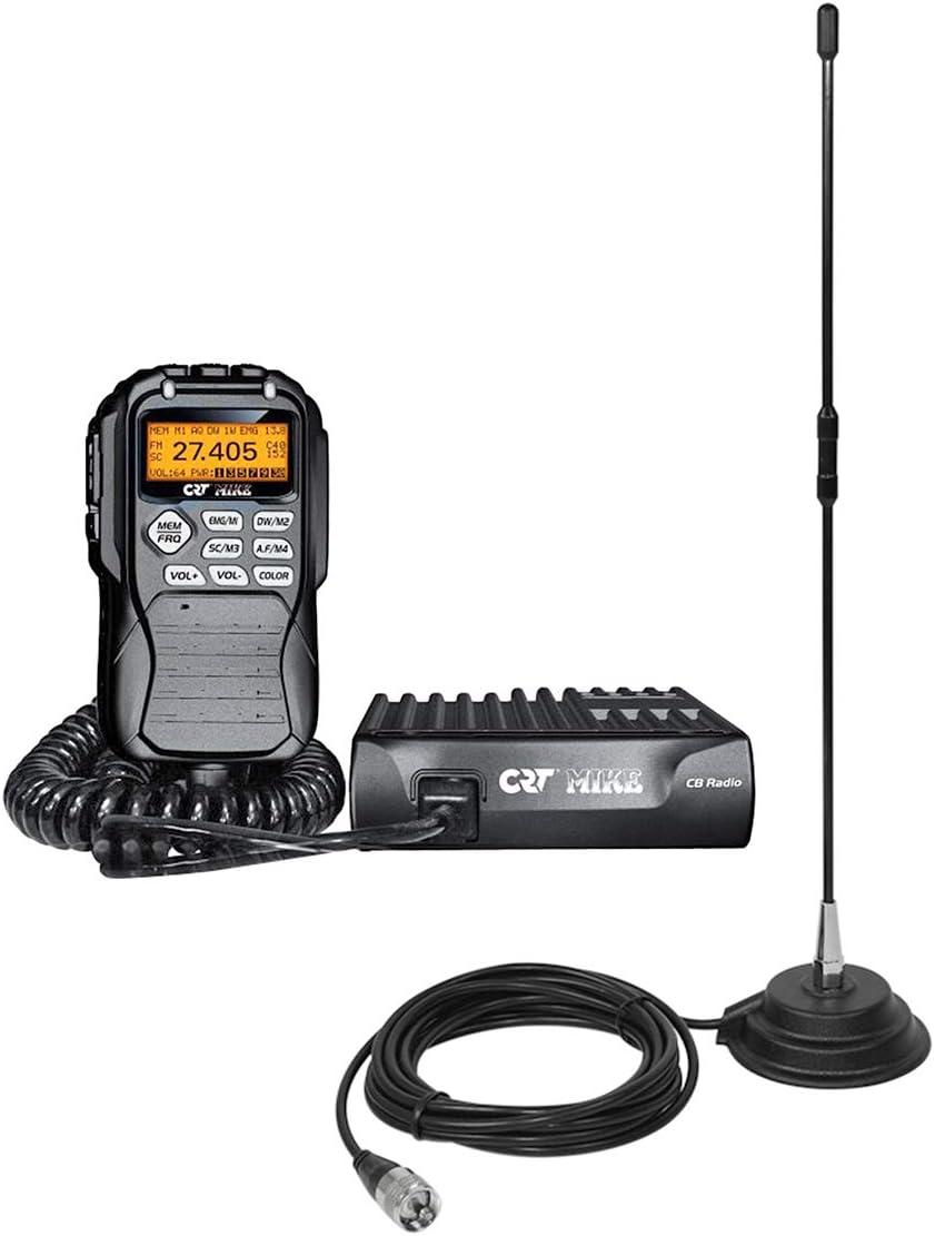 Radio CB CRT Mike ASQ + Antena CB PNI Extra 40 con imán