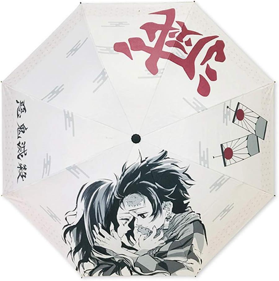 Anime Japon/és engrosado pantalla de tela PG multicin/ética de energ/ía plegable paraguas multicolor Multi1 UCAI Demon Slayer Paraguas impermeable