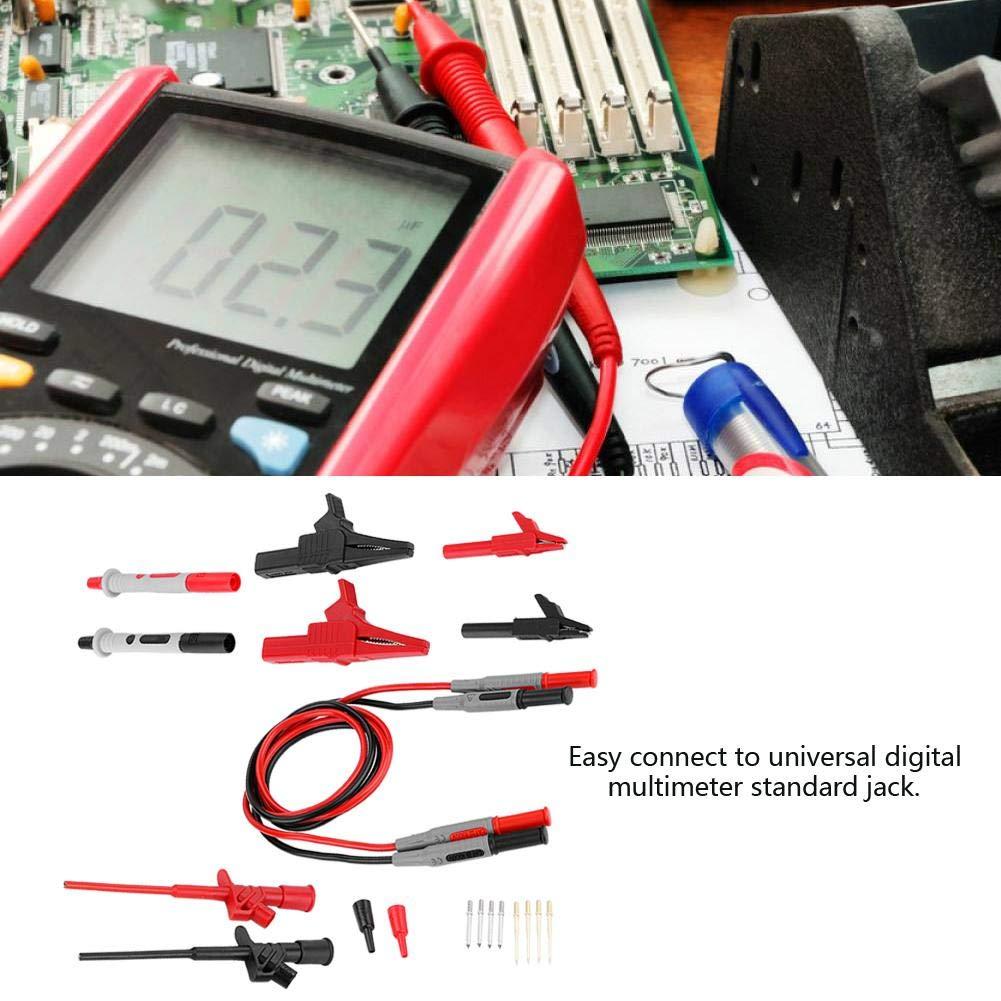 1 par de cables de prueba de sonda Multimeter 4 mm banano Rojo y nos en Blanco
