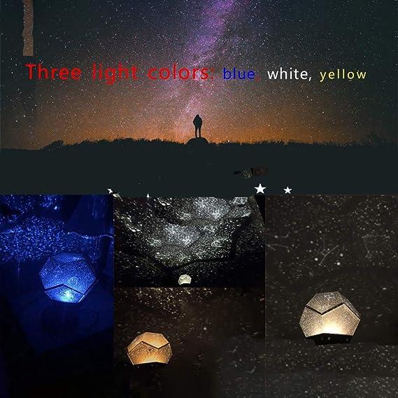 Lixada Luz de Nocturna LED Lámpara de Proyector Estrellas Galaxia ...