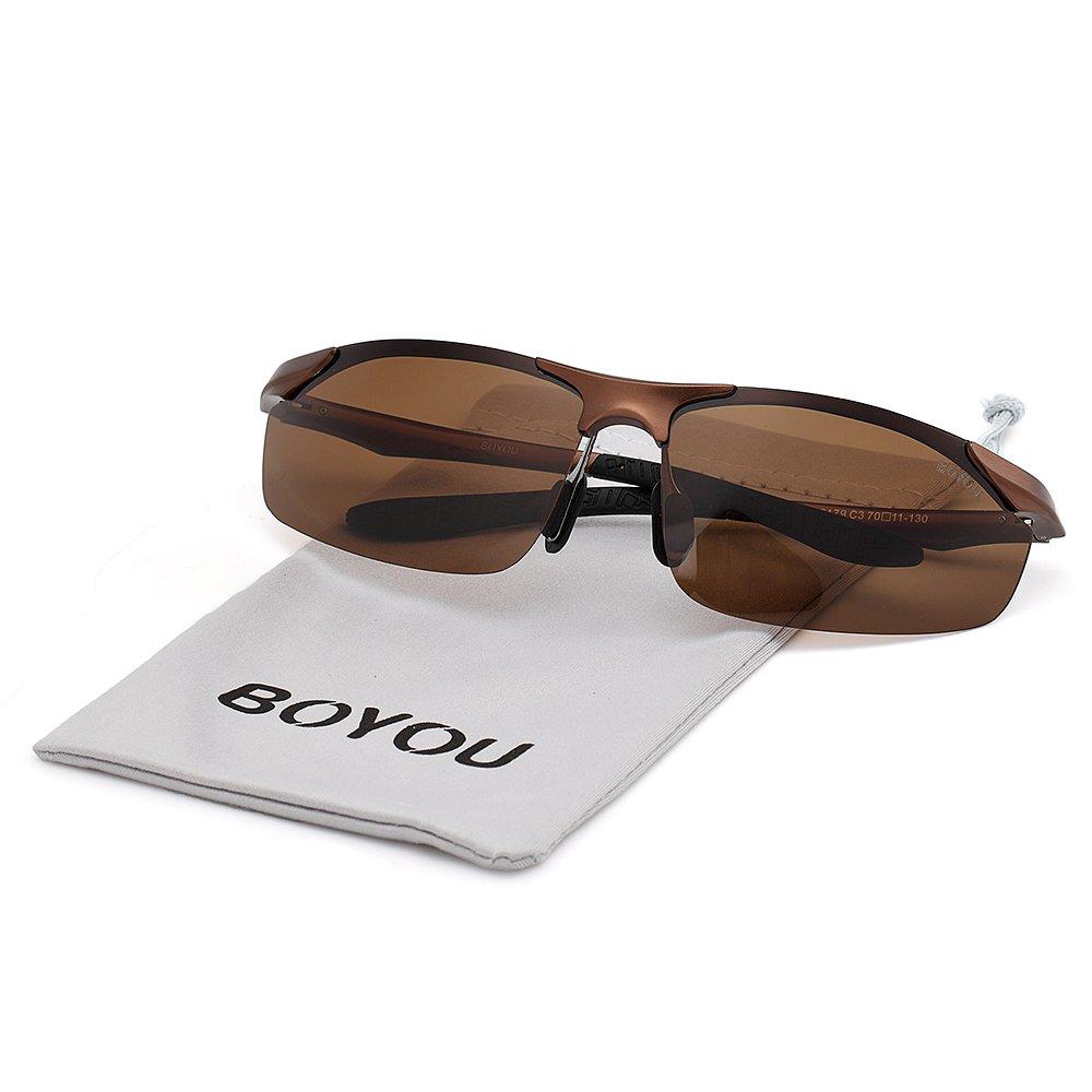 BOYOU gafas de sol gafas de sol para los hombres de deportes al aire libre
