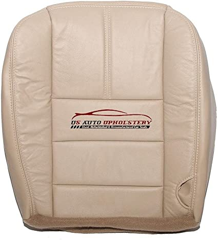 2013 2014 Ford F450 Lariat Driver Side Bottom Perforated Leather Seat Cover TAN