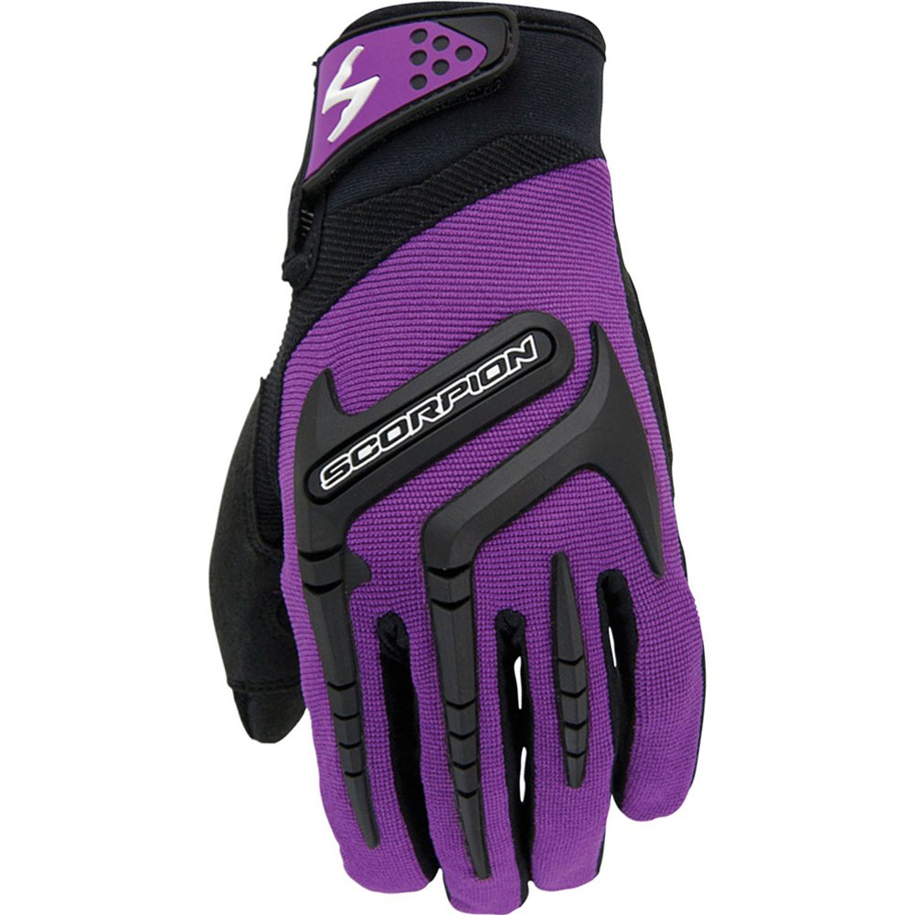 Scorpion Skrub Women's Textile Sports Bike Racing Motorcycle Gloves - Purple/Large