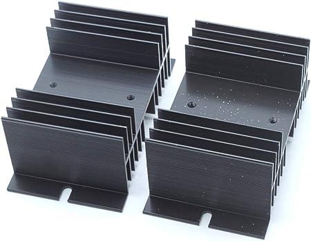 Saim Black Aluminum Heatsink Heat Dissipation Sink for Solid State Relay SSR 1 Pcs