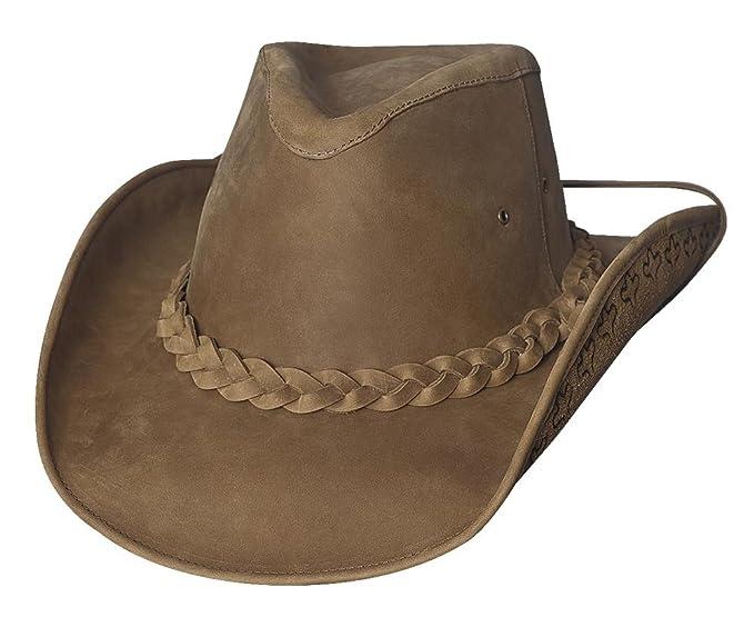 bc6de10e448b9 Montecarlo Bullhide Hats MELBOURNE LEATHER Western Cowboy Hat at Amazon  Men s Clothing store