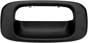 IRONTEK Black Tailgate Handle Bezel Replacement Fit 99-07 for Chevy Silverado and GMC Sierra, Also Fits 1500, 2500, 3500 HD Pickup Truck, Silverado, GMC Tailgate Handle Bezel OE 15228539