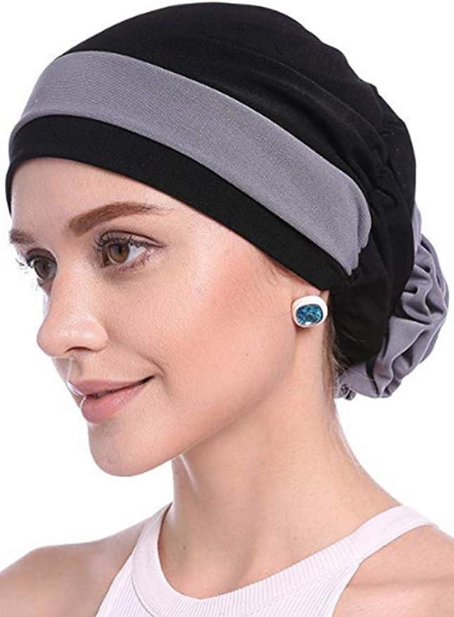 f/ür Frauen Kirmoo Chemo-Kopfbedeckung langes Haar Turban Kopftuch Krebs-H/üte Kopftuch Kopftuch