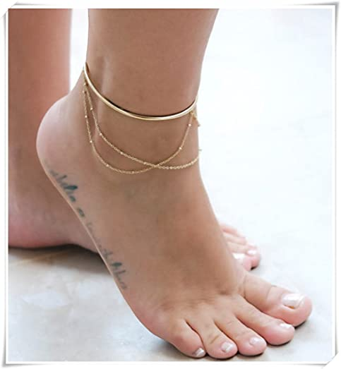 products summer lust anklet gold color fashion tube chain on u new bracelet look jewelry love simple leg with ankle