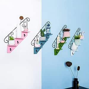 Estante de la pared Forma de escalera flotante Estantes conjunto de decoración 2 Pantalla colgante por Picture Frames, coleccionables, artículos de decoración para dormitorio sala de estar cocina baño: Amazon.es: Hogar