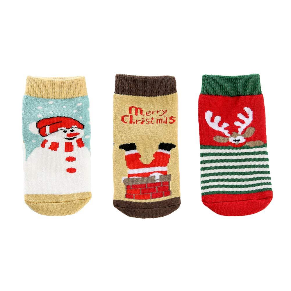 Christmas Socks Gift Baby Girl Boy Socks Cute Cartoon Toddler Socks Infants Socks 12 Pairs