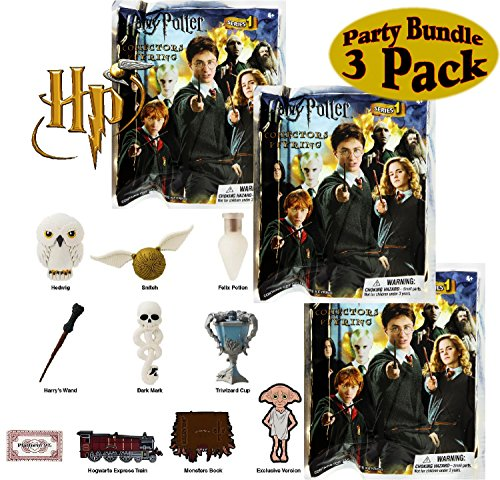 Harry Potter Series 1 3D Foam Collectible Blind Bag Key Rings Gift Set Party Bundle - 3 Pack (Assorted) by Harry Potter