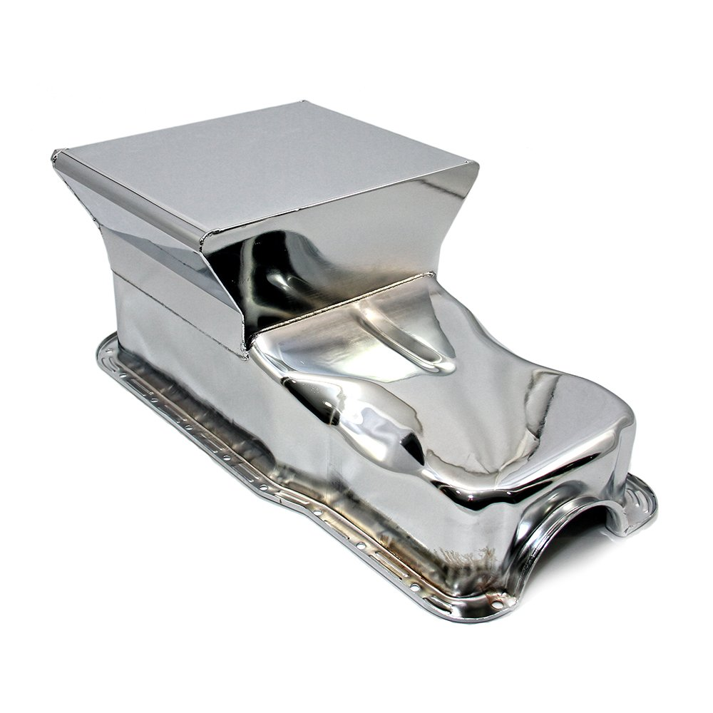 Assault Racing Products A9737 for Ford Small Block Chrome Drag Style 7qt Oil Pan SBF 260 289 302