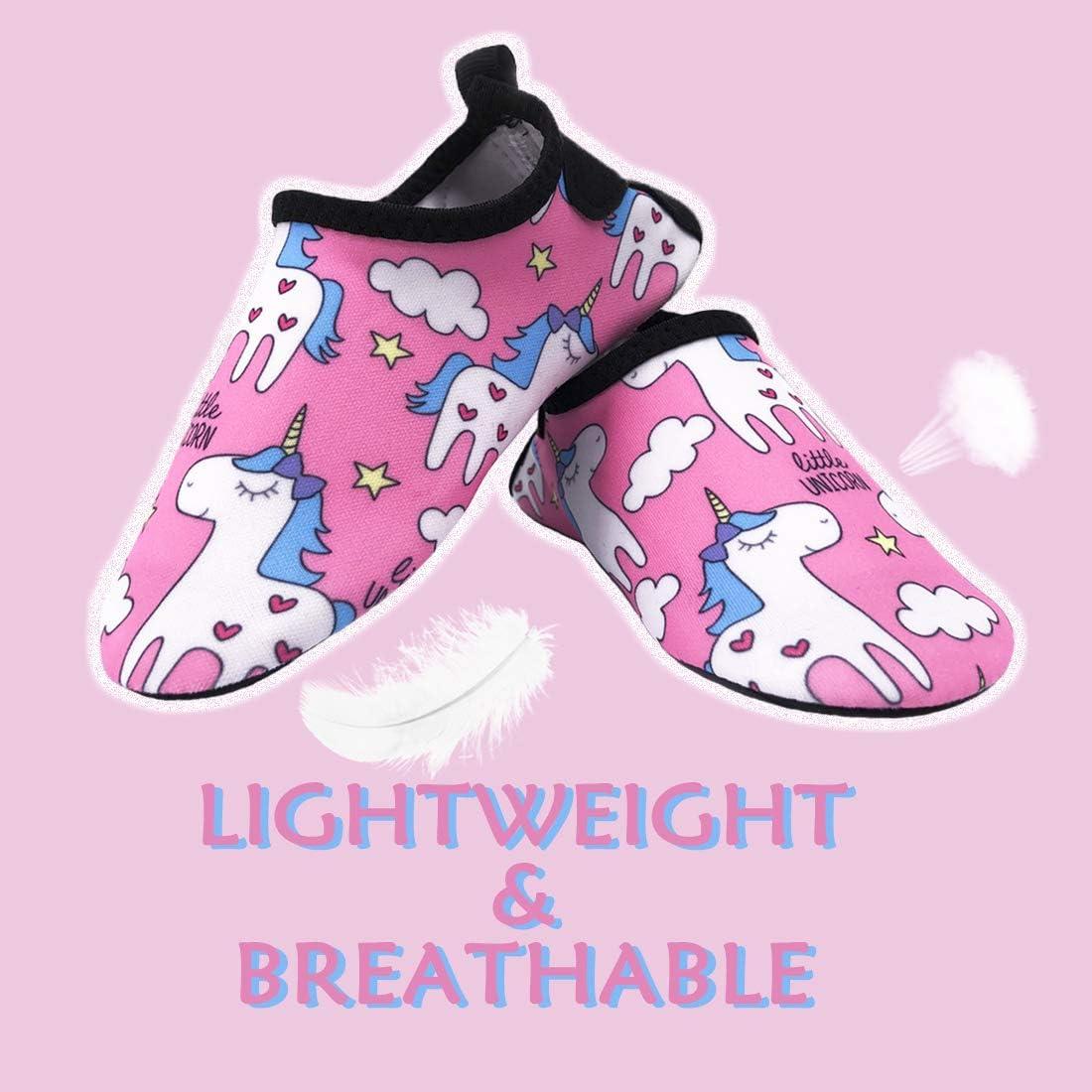 Dinosaure Dream Bridge Chaussures Aquatiques Enfants Filles Gar/çons S/échage Rapide Chaussures deau pour Plage Piscine Surf Sport Aquatique