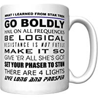 """""""What I Learned from Star Trek"""" Coffee Mug (Newest Version)"""