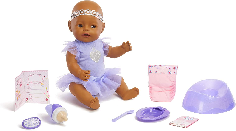 Baby Born Interactive Baby Doll- Dark Brown Eyes