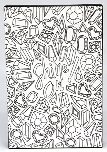 DIY Crafts Ready to Display on Wall or Shelf Great for kids and adults alike Coloring Products 4 x 7 x .75 DCI Color Joy Dream Big Art Block Flowers Pattern
