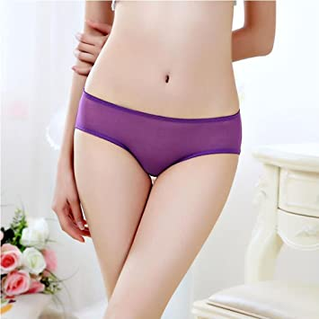 Boxer Briefs Sexy Full Transparent Ladies Underwear Hot And Breathable Mesh Yarn Briefs Solid Color Low
