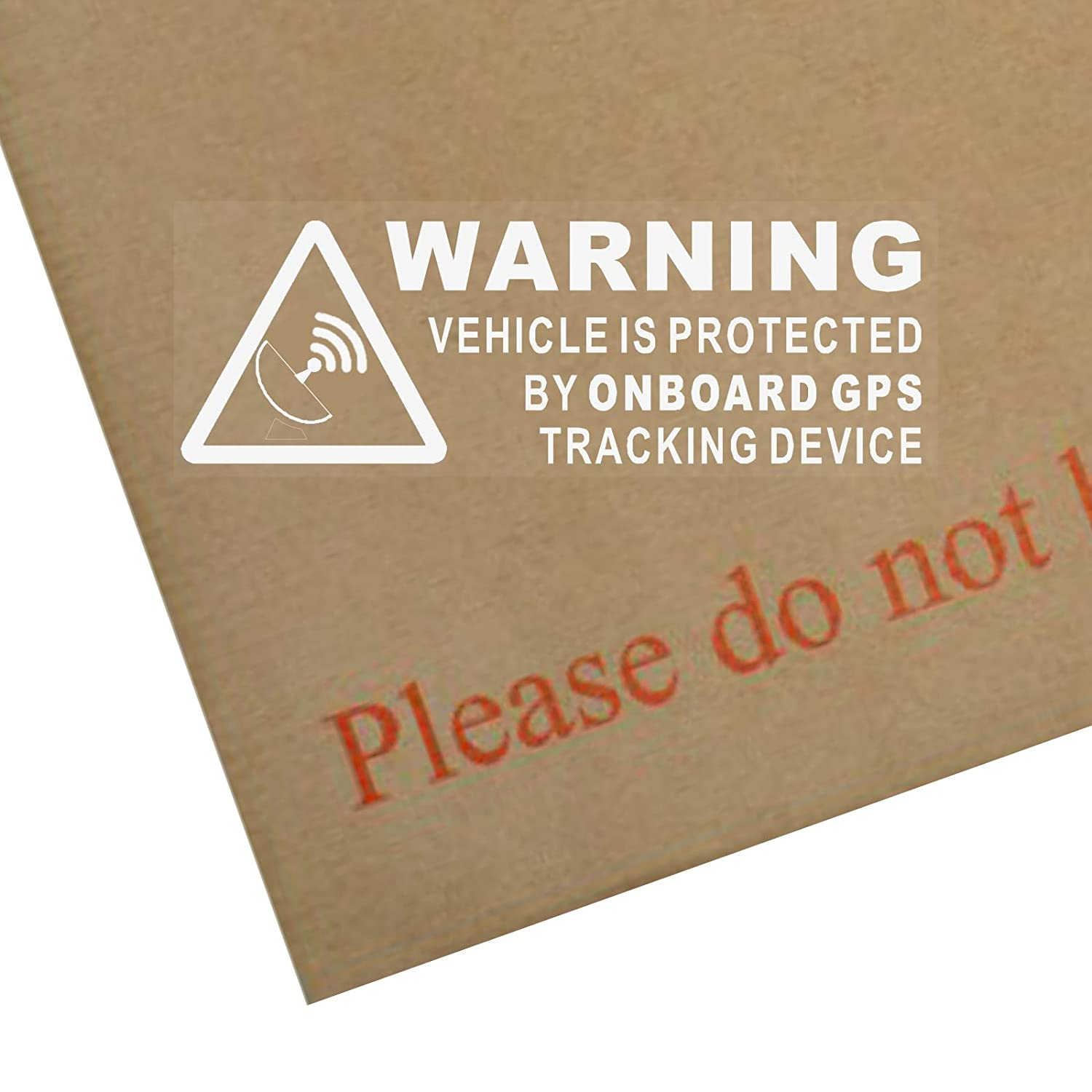 Platinum place 5 x warning on board gps tracking device stickers carvanboatsignsecuresecurityprotectionsafetyalarmdash amazon co uk car