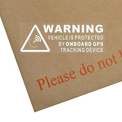 Juego de 5pegatinas de advertencia de vehículo con GPS