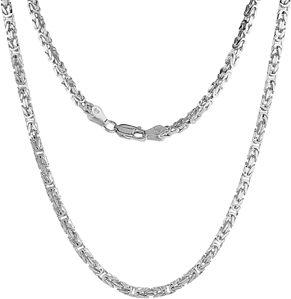 """SUPER LONG Bali Solid Sterling Silver BYZANTINE Chain Necklace  30/"""" /& 36/"""" 2.5mm"""