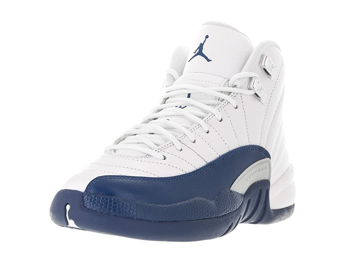 buy online 753d0 065da Nike Air Jordan 12 Retro BG GS French Blue White/Metallic ...