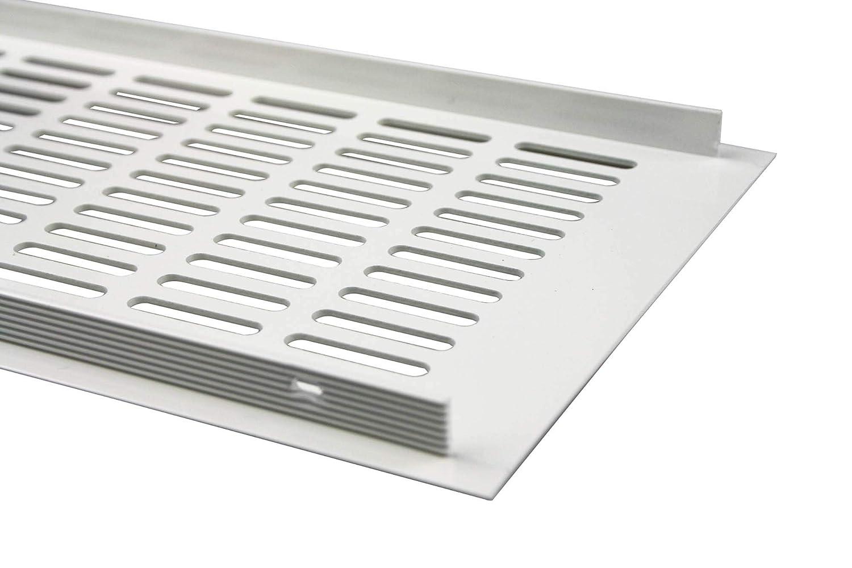 150 x 500 mm color blanco Rejilla de ventilaci/ón de aluminio con recubrimiento de polvo