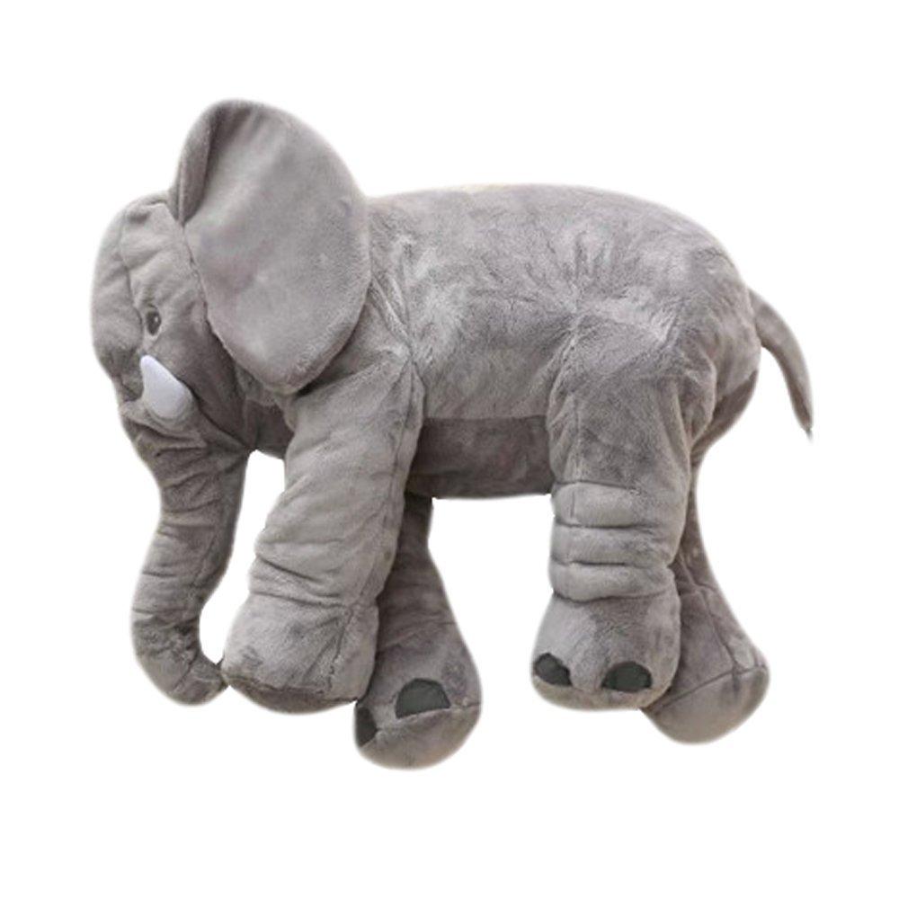 Oreiller doux et rembourré en forme d'éléphant pour bébé - Jouet pour enfants - Rainbow Unicorn