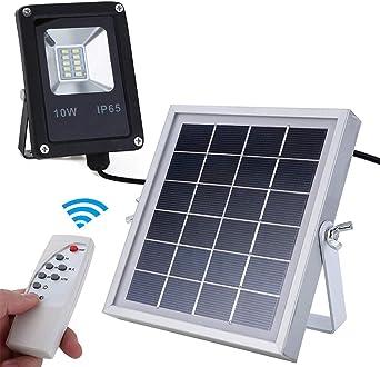 10W Luz Solar Exterior IP65 Exterior Foco Solar Tipo De División ...