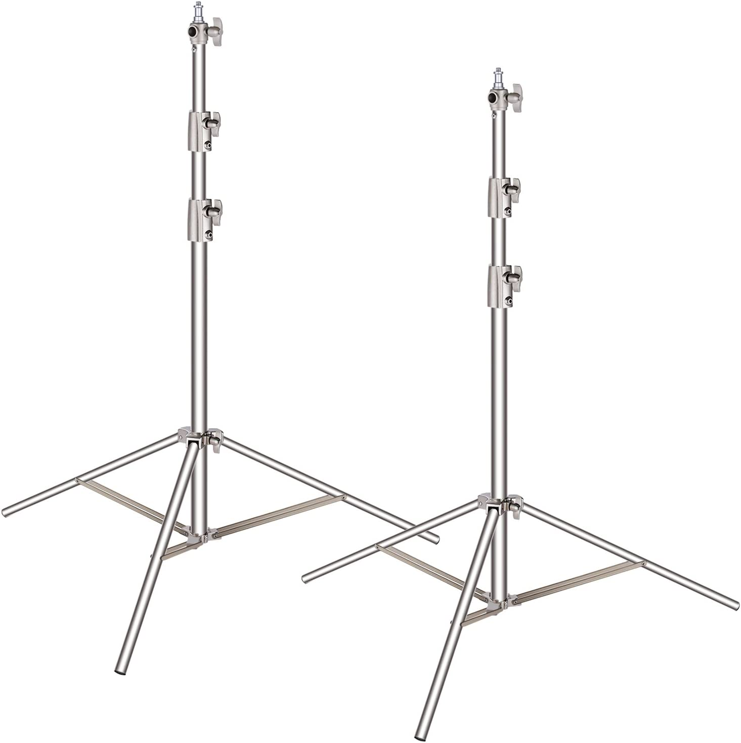 Black, 4 3-Section Light Stand with Detachable Legs