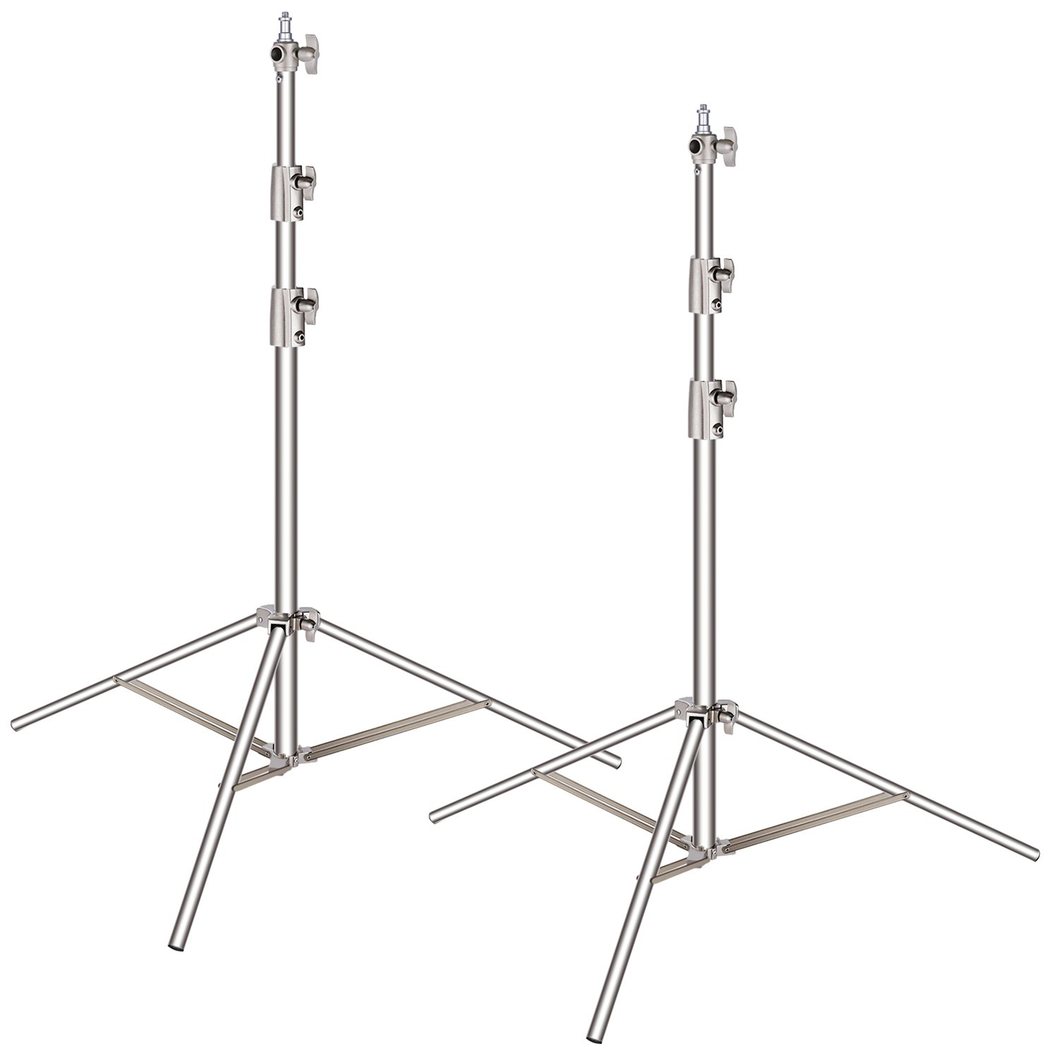 Neewer 2 Pieces Light Stand Kit, 102''/260cm Stainless Steel Heavy Duty with 1/4'' to 3/8'' Adapter for Studio Softbox, Monolight and Other Photographic Equipment by Neewer