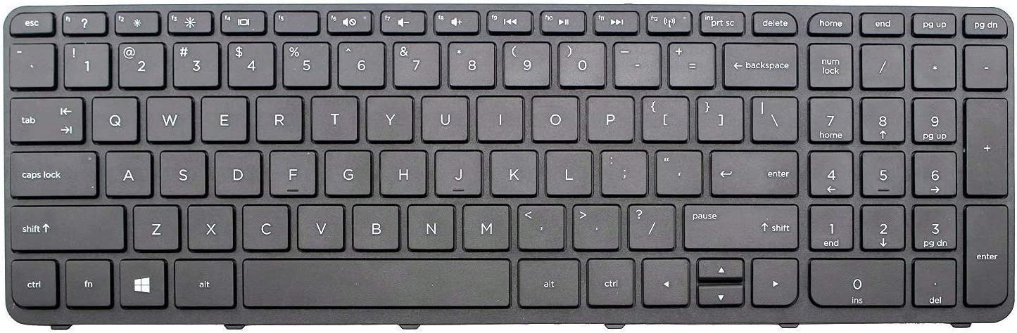 Givwizd Replacement Backlit Keyboard for HP Pavilion 15-p252ur 15-p253nf 15-p253ns 15-p253nu 15-p253tx 15-p254nl 15-p254ns 15-p254tx 15-p255tx 15-p256nc 15-p256nh 15-p256nu Without Palmrest