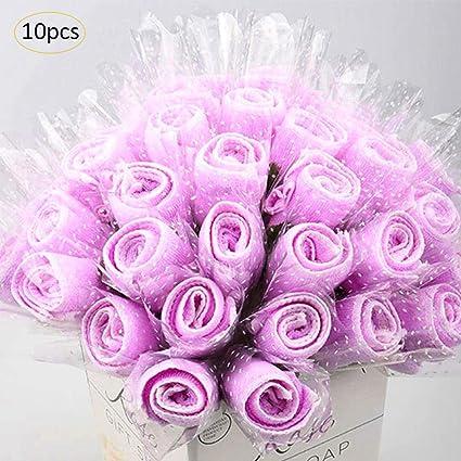 Toalla de rosa innovadora mini toalla de 6 colores creativo rosa microfibra para boda/cumpleaños