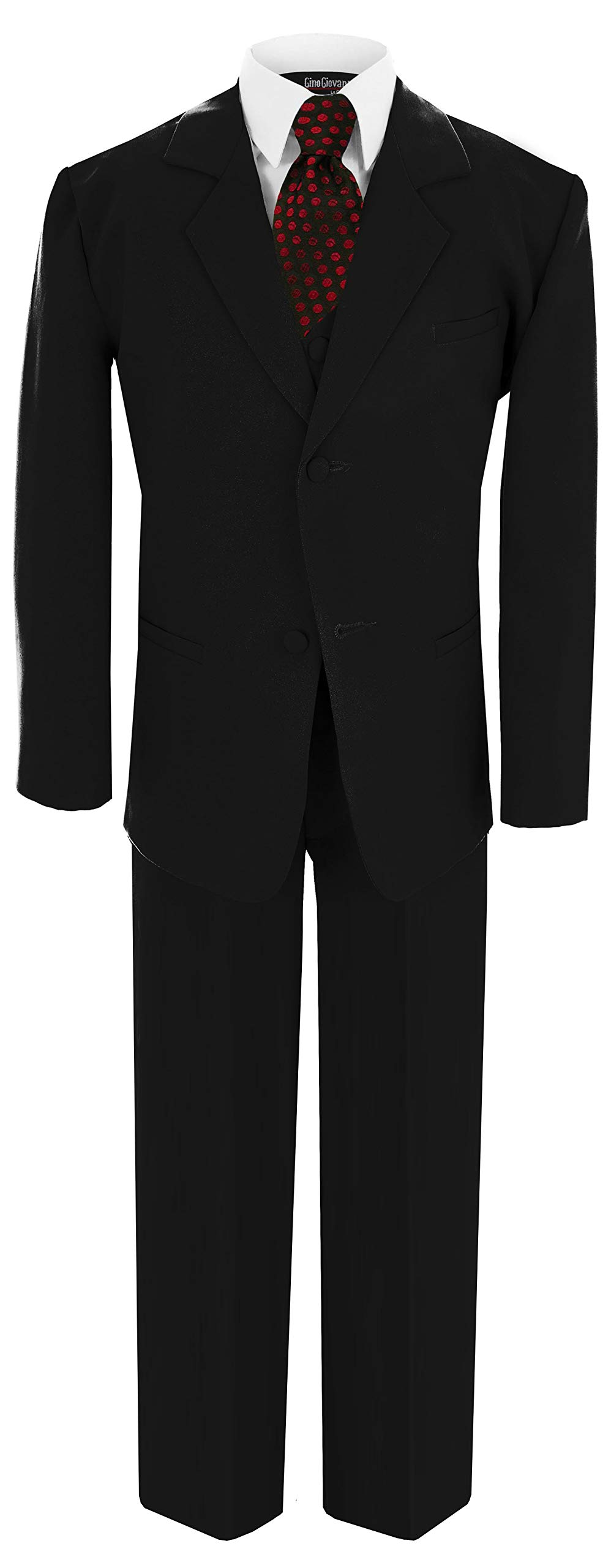 US Fairytailes G188 Black/RED Formal Boys Kids Dress Suit from Baby to Teen (8, Black/Red) by US Fairytailes