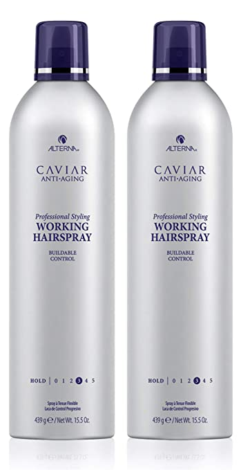 4a7fd5322dea CAVIAR Anti-Aging Professional Styling Working Hair Spray, Flexible Hold,  15.5-Ounce, (2-Pack)
