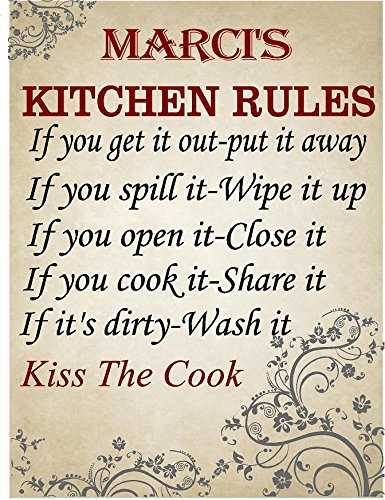 Marci Rule - MARCI Kitchen rules Chef décor sign 8