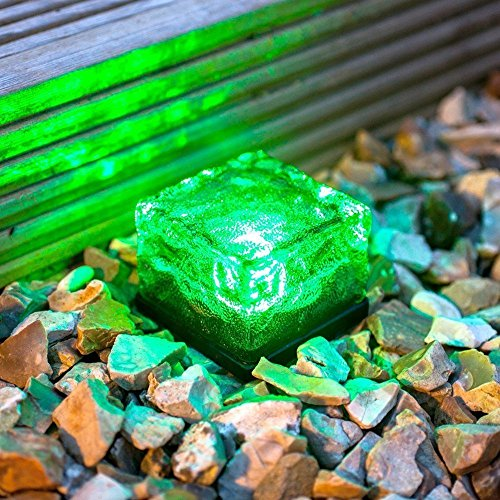 Frosted Glass Solar Brick Paver Light in US - 8
