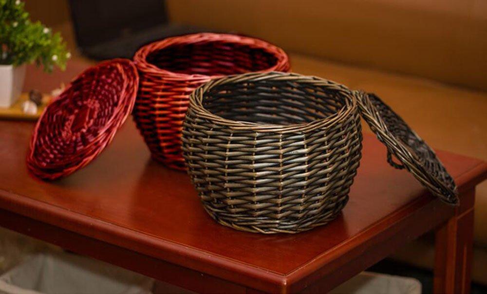 Handgefertigte Körbe Aufbewahrung Warenkorb Basket Rattan Rattan Rattan Aufbewahrungskorb Willow Basket Warenkorb Bambus Eier Basket Basket Basket Obstkorb (Farbe   B) B06W5HHV5L Sets b4e5e3