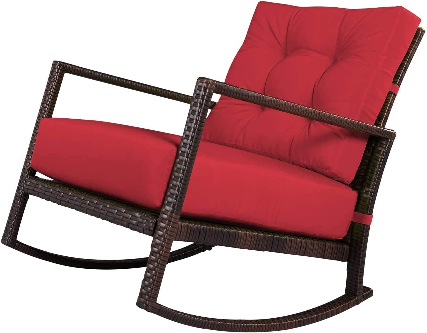 SOLAURA Outdoor Rocking Wicker Chair
