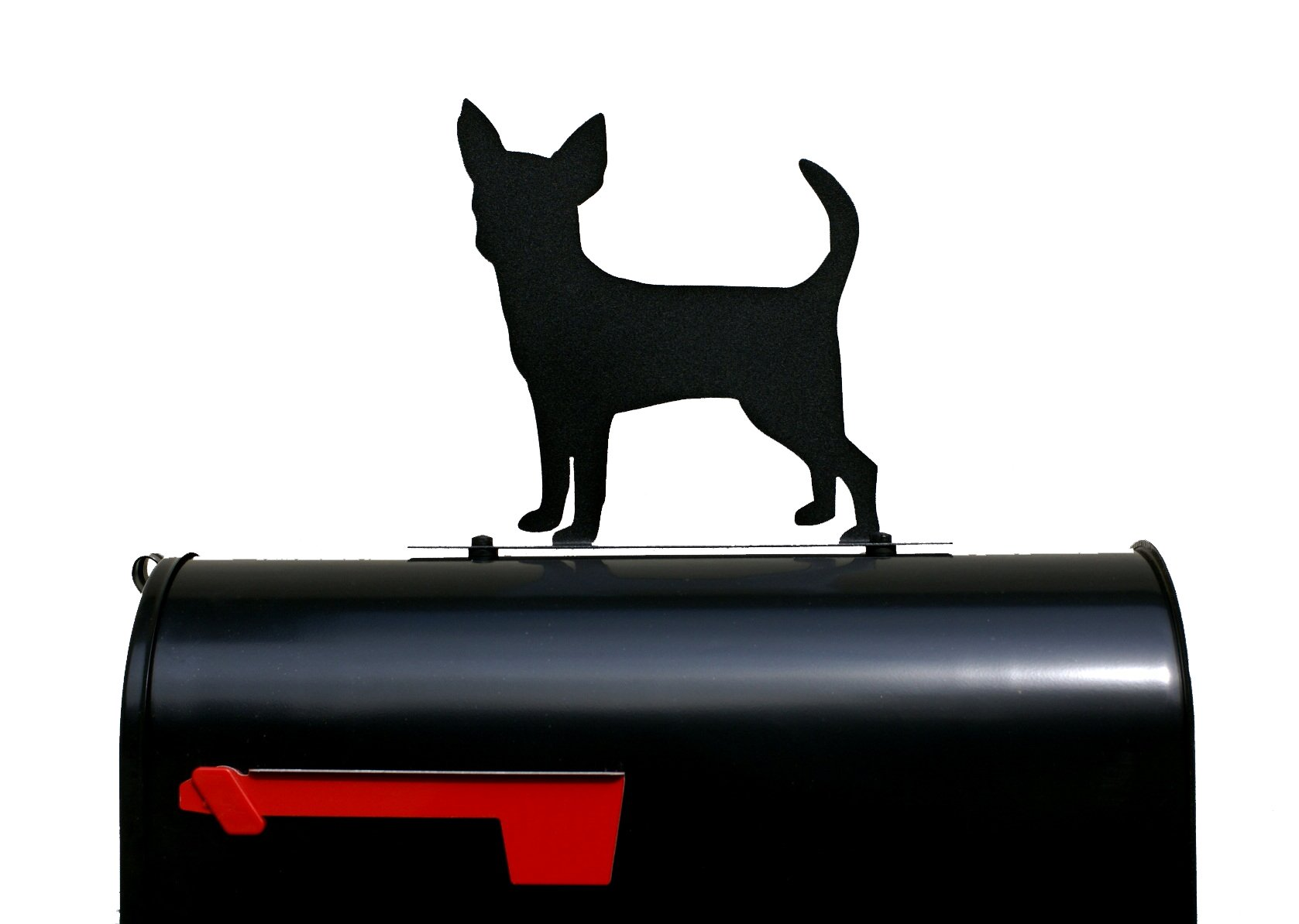 Chihuahua Dog Silhouette Mailbox Topper/Sign by NewnanMetalWorks