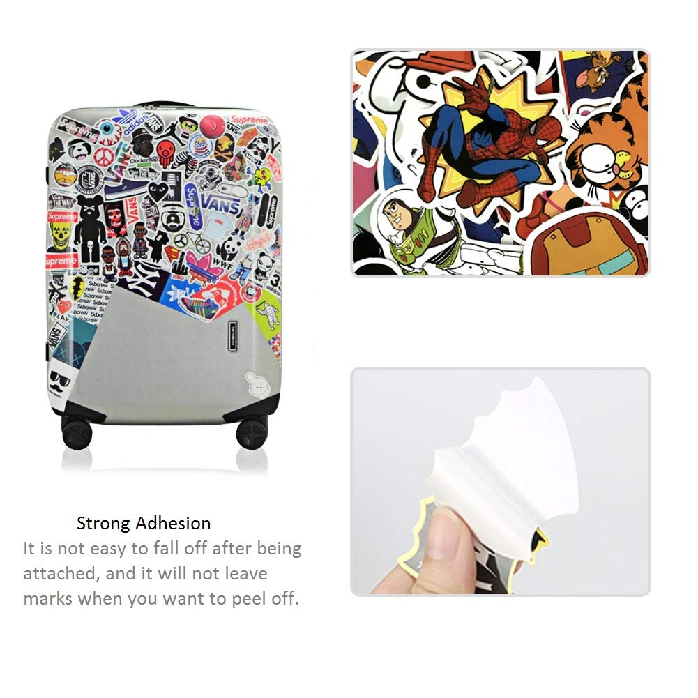 60PCS Cute Cartoon Stickers Bosiwee Cool Cartoon Stickers Waterproof Removable Vinyl Party Favors Decal Stickers for Girl Birthday Supplies Decorations
