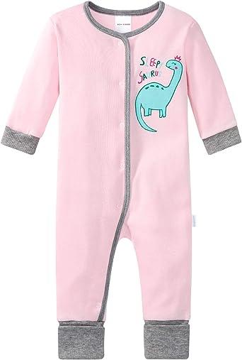 Schiesser Baby Girls Anzug Mit Fu/ß Sleepsuit